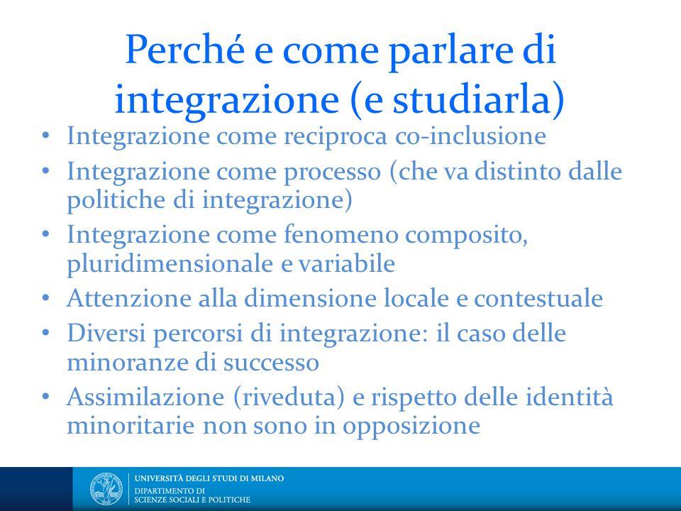 Perché e come parlare di integrazione (e studiarla)