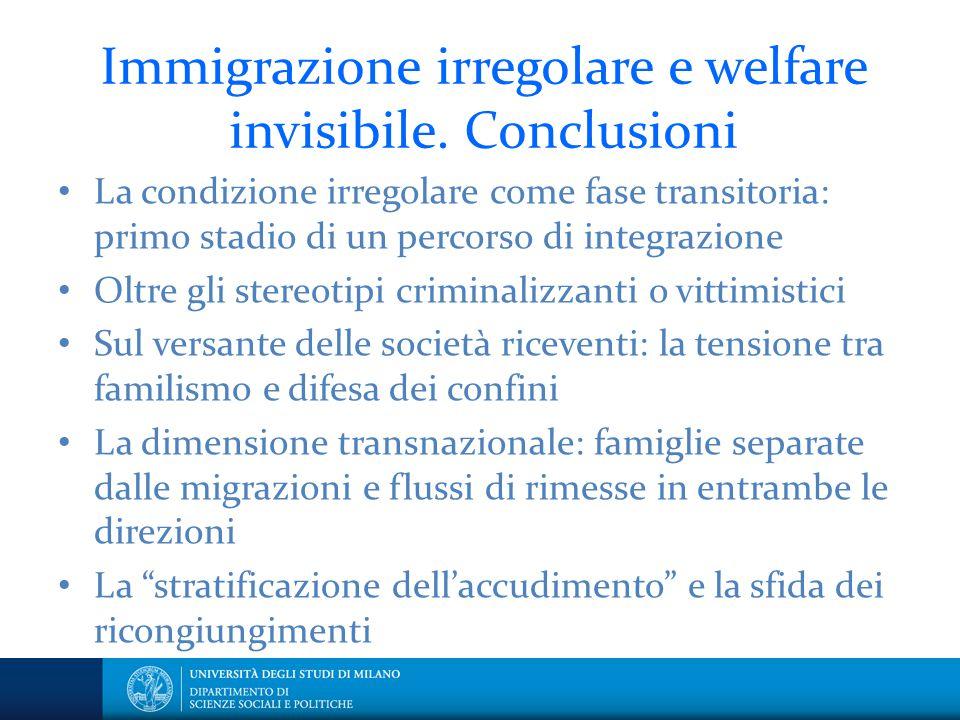 Immigrazione irregolare e welfare invisibile. Conclusioni