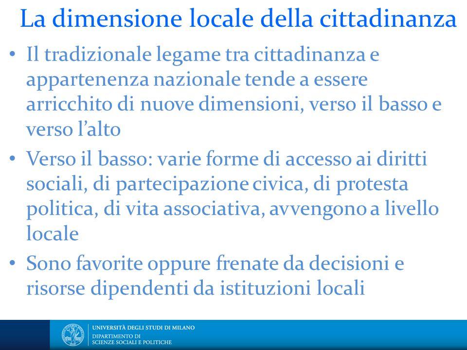 La dimensione locale della cittadinanza