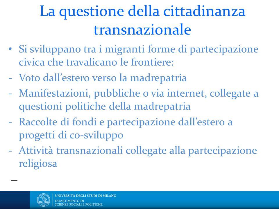 La questione della cittadinanza transnazionale