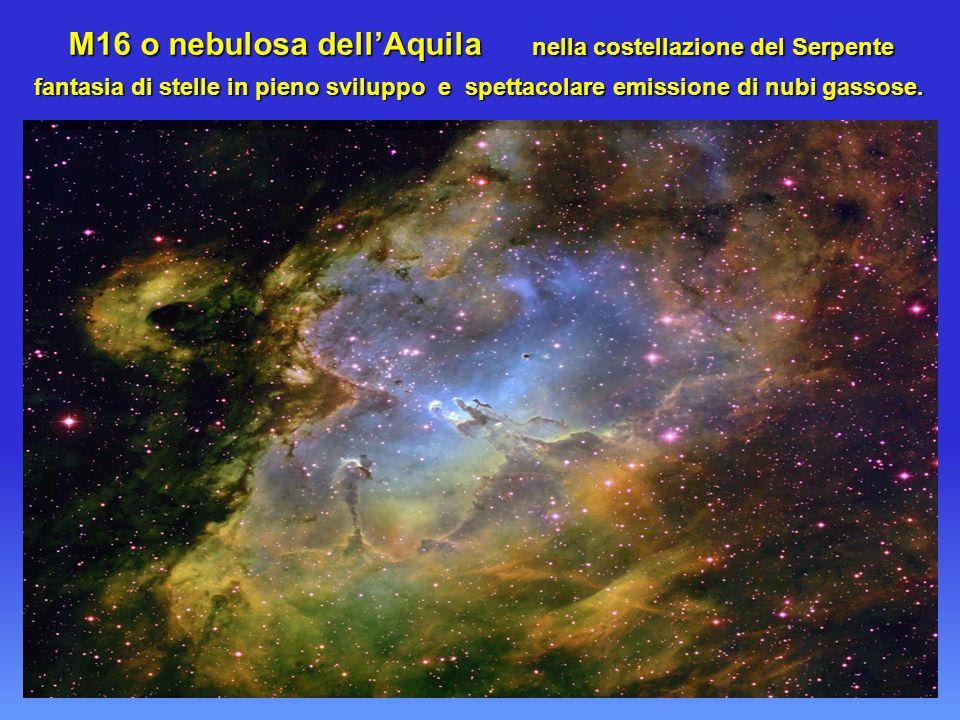M16 o nebulosa dell'Aquila nella costellazione del Serpente