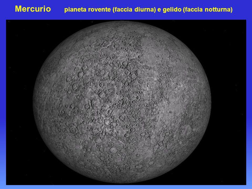 Mercurio pianeta rovente (faccia diurna) e gelido (faccia notturna)