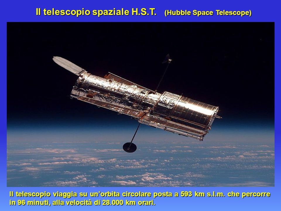 Il telescopio spaziale H.S.T. (Hubble Space Telescope)