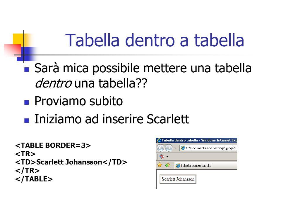 Tabella dentro a tabella