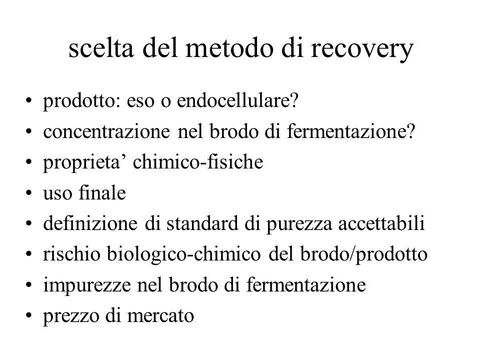 scelta del metodo di recovery