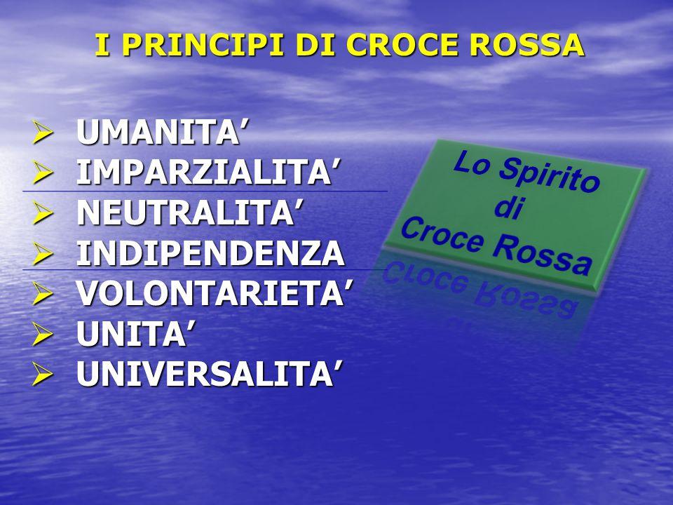 I PRINCIPI DI CROCE ROSSA
