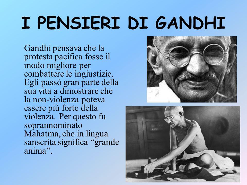 I PENSIERI DI GANDHI