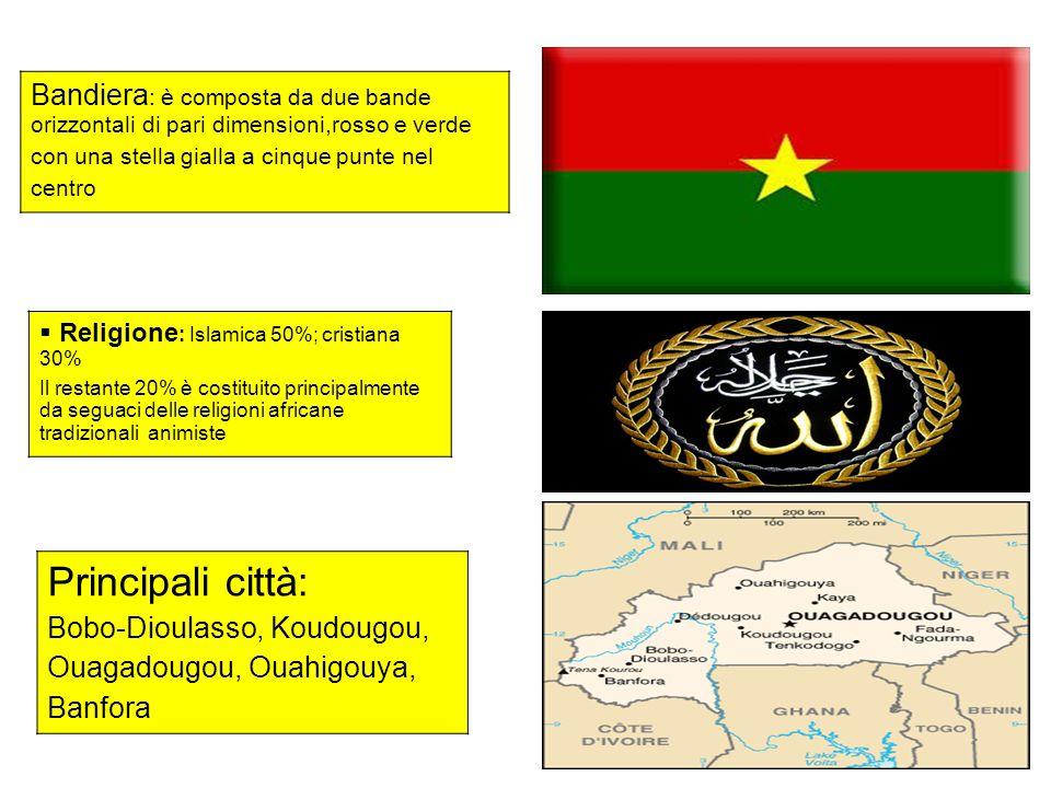 Bandiera: è composta da due bande orizzontali di pari dimensioni,rosso e verde