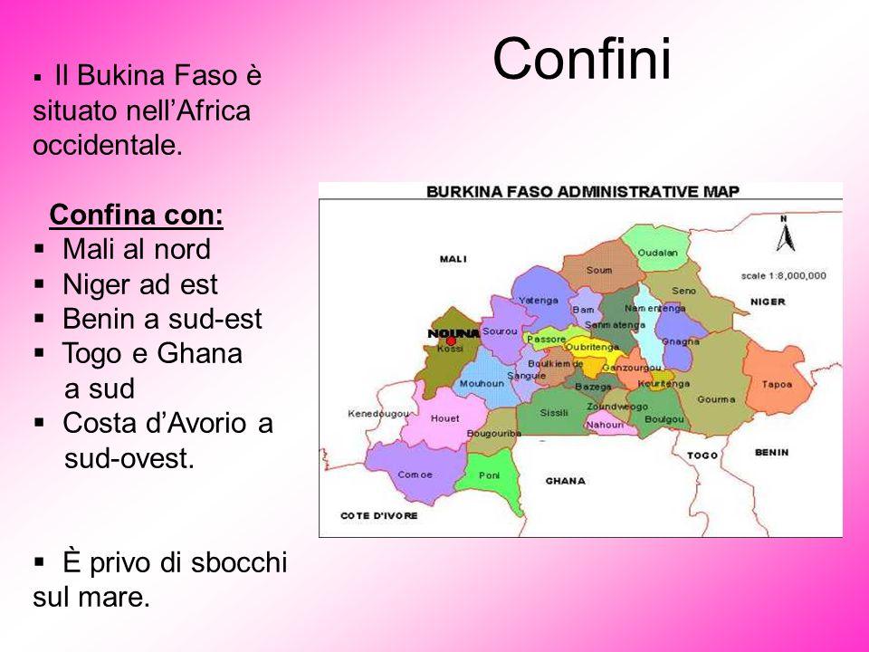 Confini Confina con: Mali al nord Niger ad est Benin a sud-est