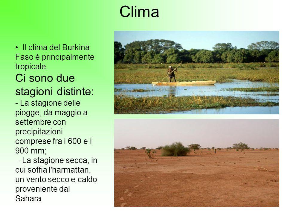 Clima Ci sono due stagioni distinte: