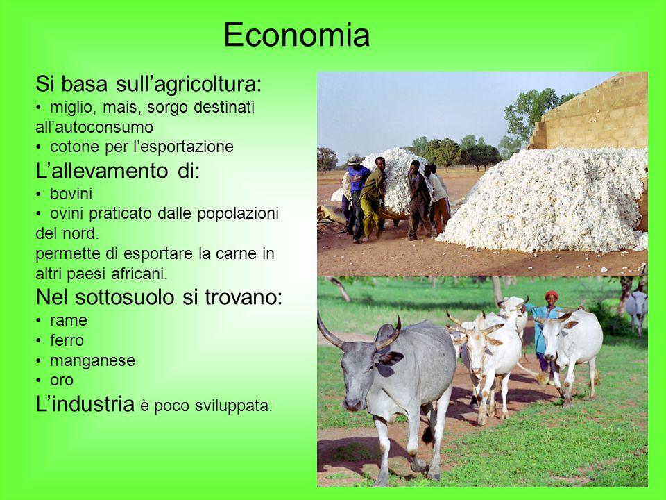Economia Si basa sull'agricoltura: L'allevamento di:
