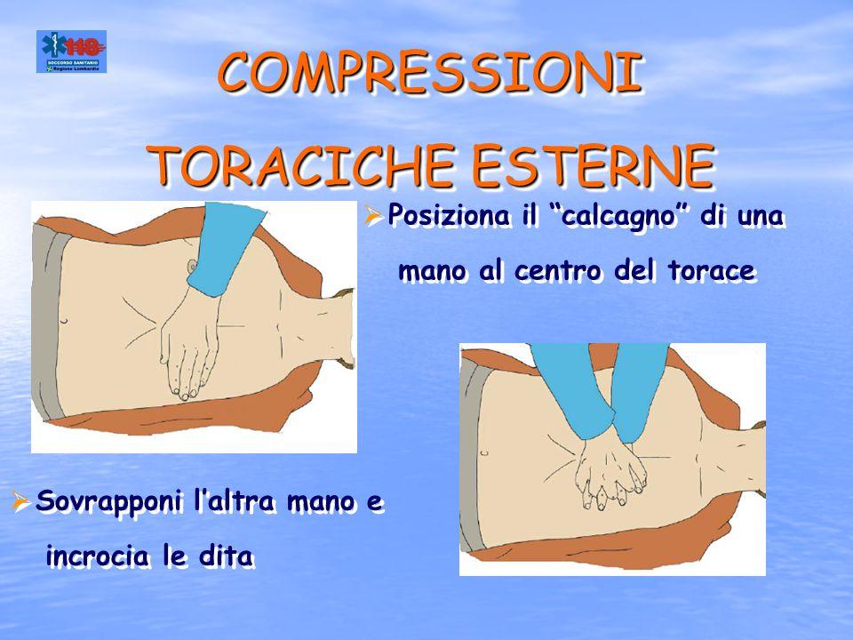 COMPRESSIONI TORACICHE ESTERNE