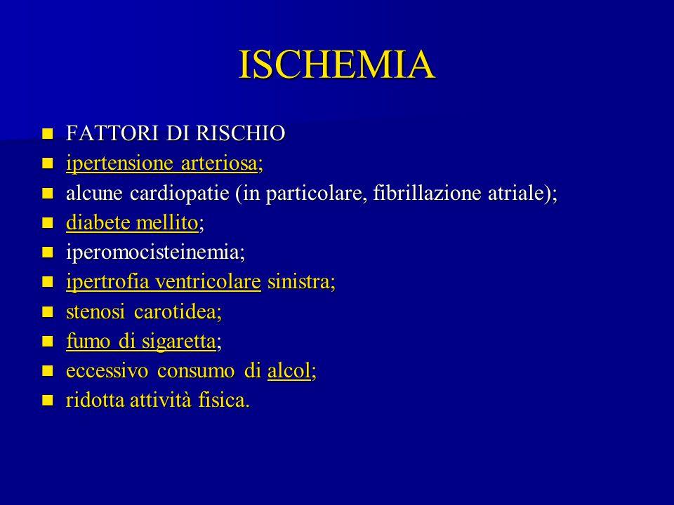 ISCHEMIA FATTORI DI RISCHIO ipertensione arteriosa;