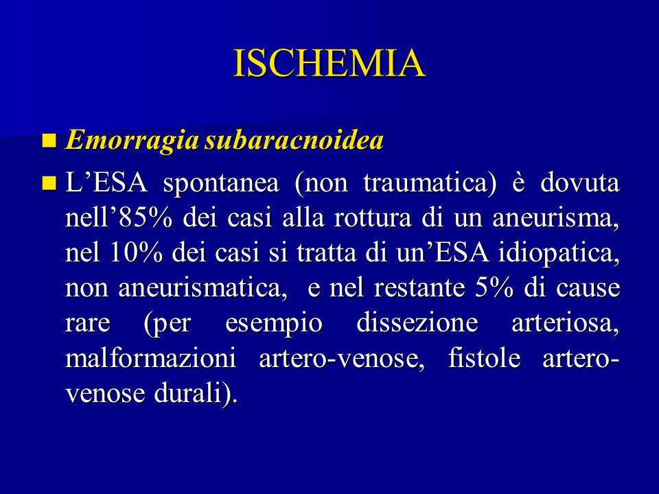 ISCHEMIA Emorragia subaracnoidea