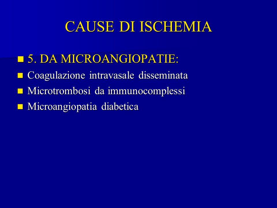 CAUSE DI ISCHEMIA 5. DA MICROANGIOPATIE: