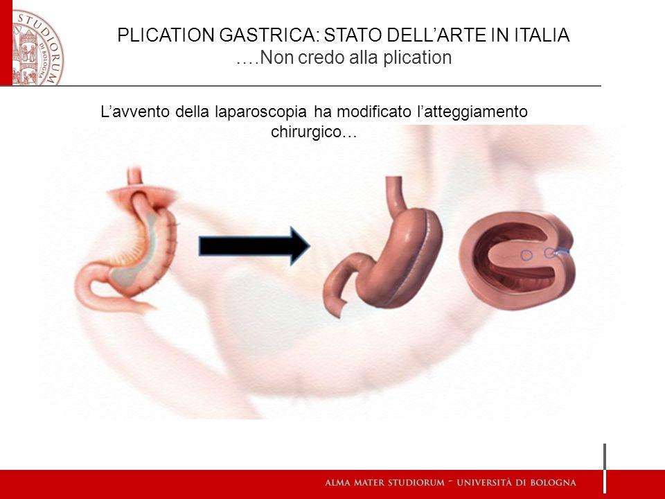 L'avvento della laparoscopia ha modificato l'atteggiamento chirurgico…