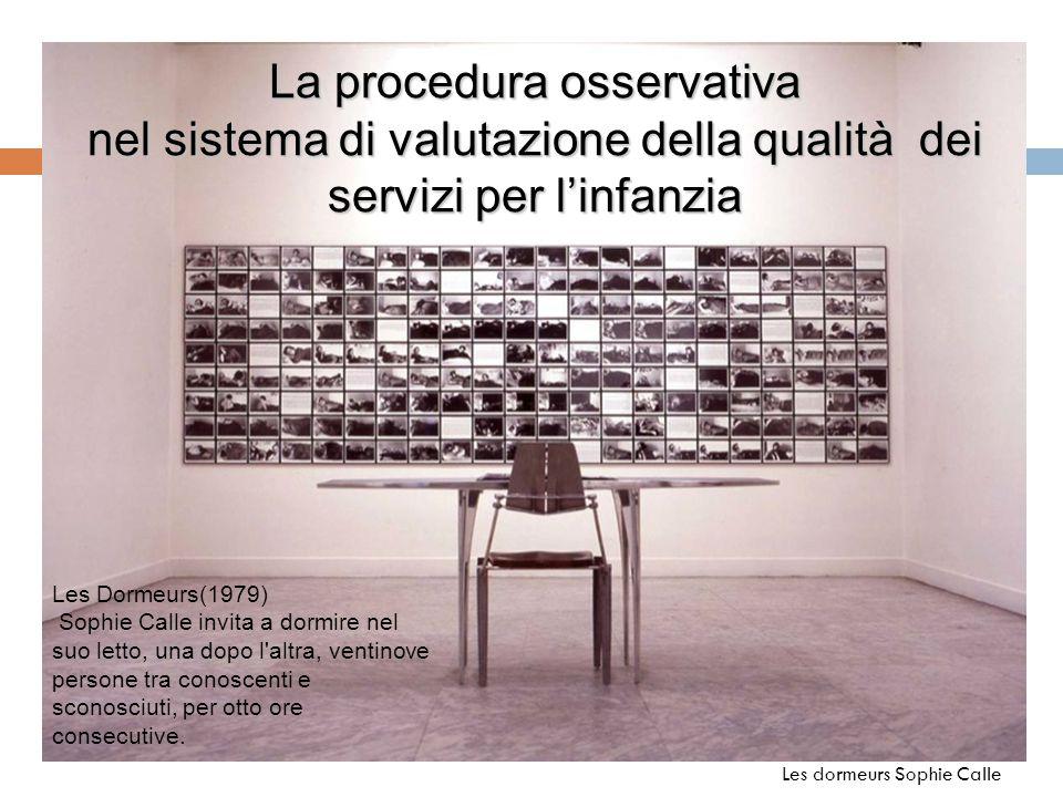La procedura osservativa nel sistema di valutazione della qualità dei servizi per l'infanzia