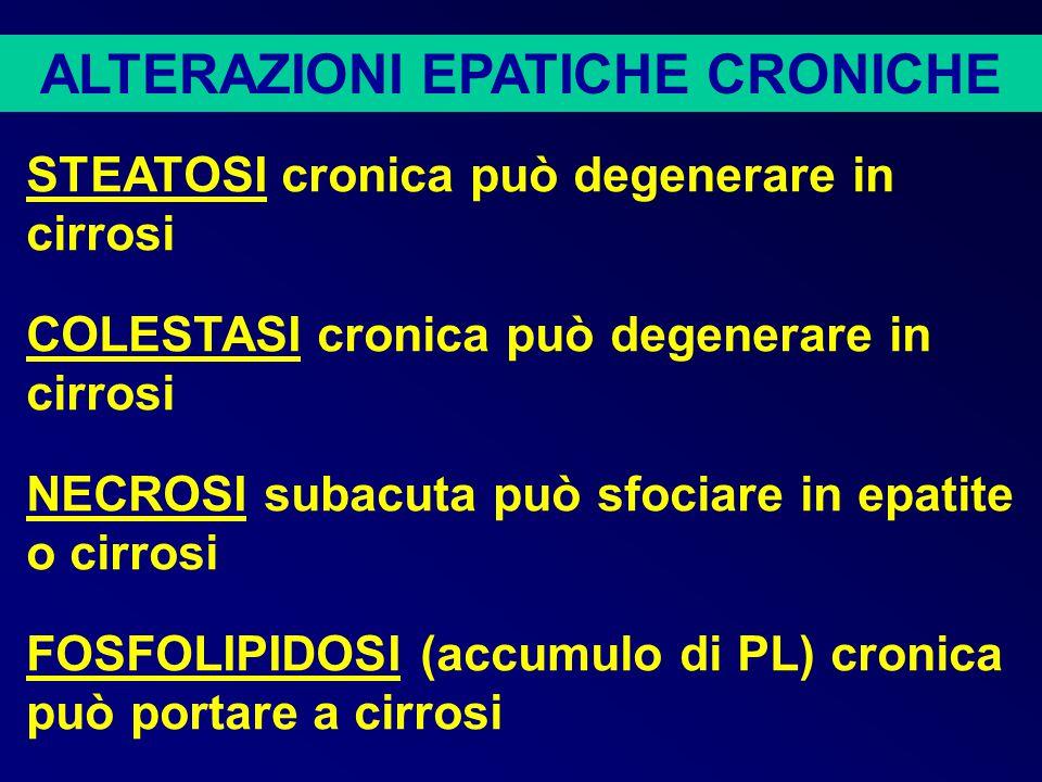 ALTERAZIONI EPATICHE CRONICHE
