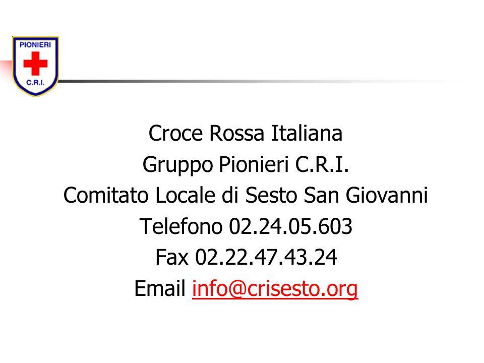 Comitato Locale di Sesto San Giovanni Telefono 02.24.05.603