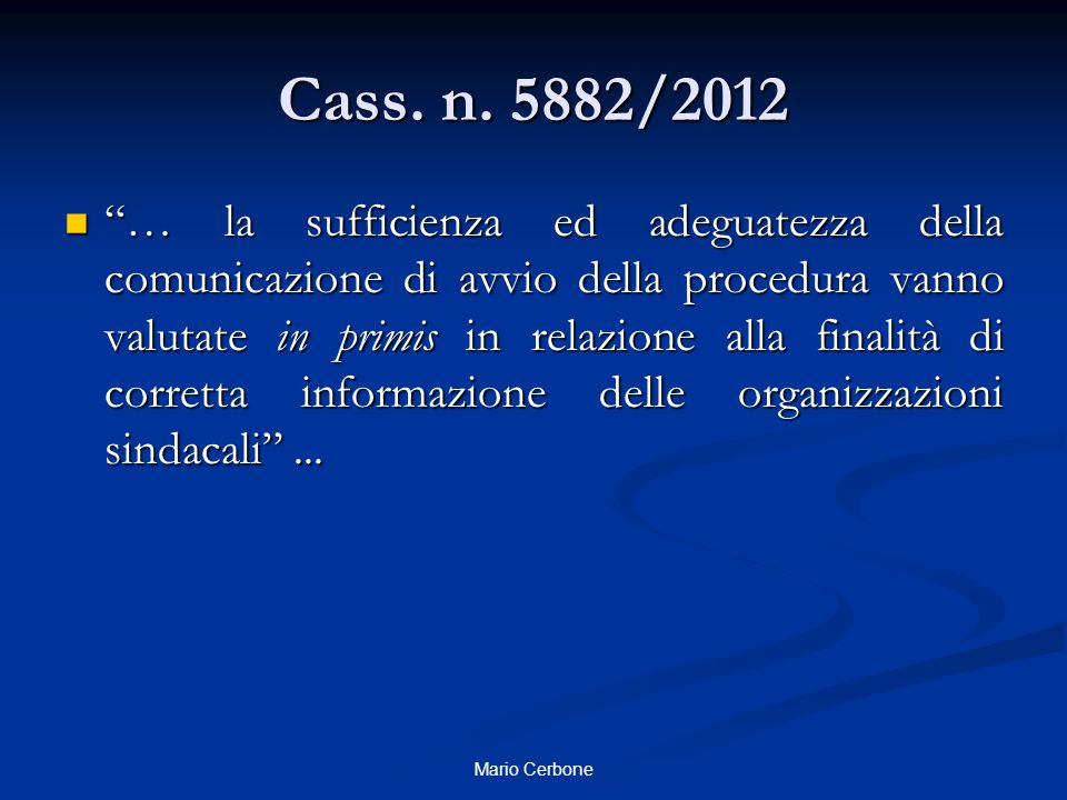 Cass. n. 5882/2012
