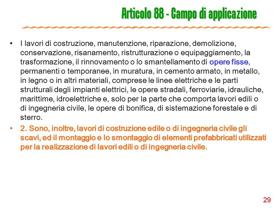 Articolo 88 - Campo di applicazione