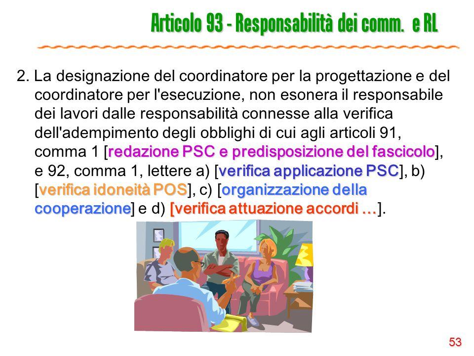 Articolo 93 - Responsabilità dei comm. e RL
