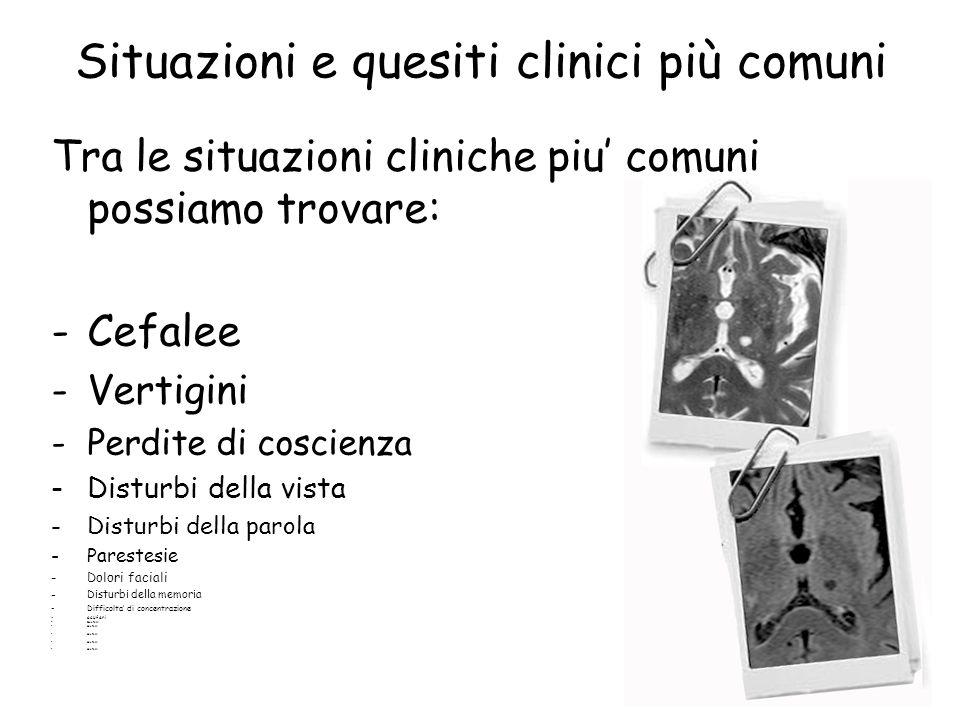 Situazioni e quesiti clinici più comuni