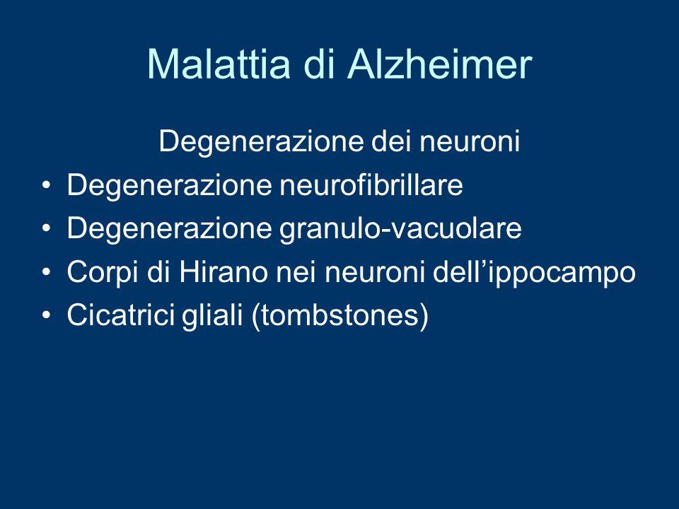 Degenerazione dei neuroni