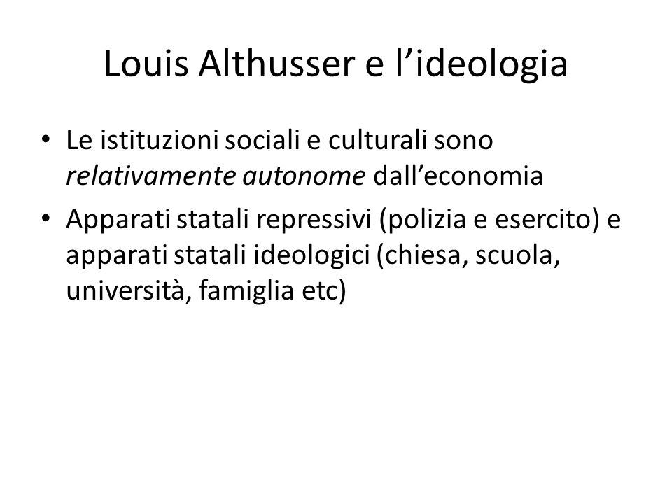 Louis Althusser e l'ideologia
