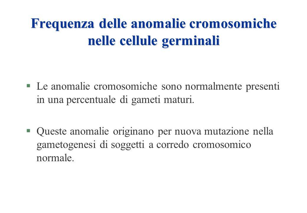 Frequenza delle anomalie cromosomiche nelle cellule germinali