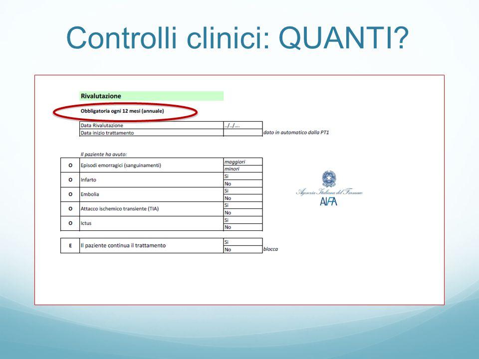 Controlli clinici: QUANTI