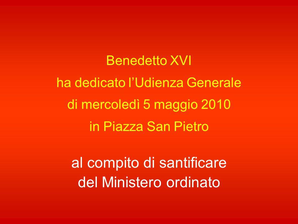 al compito di santificare del Ministero ordinato