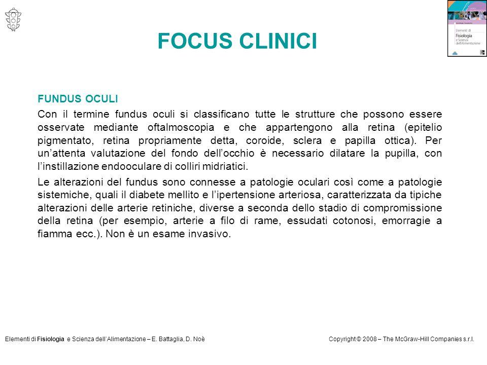 FOCUS CLINICI FUNDUS OCULI