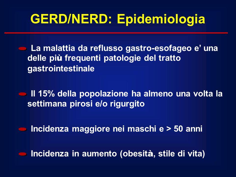 GERD/NERD: Epidemiologia