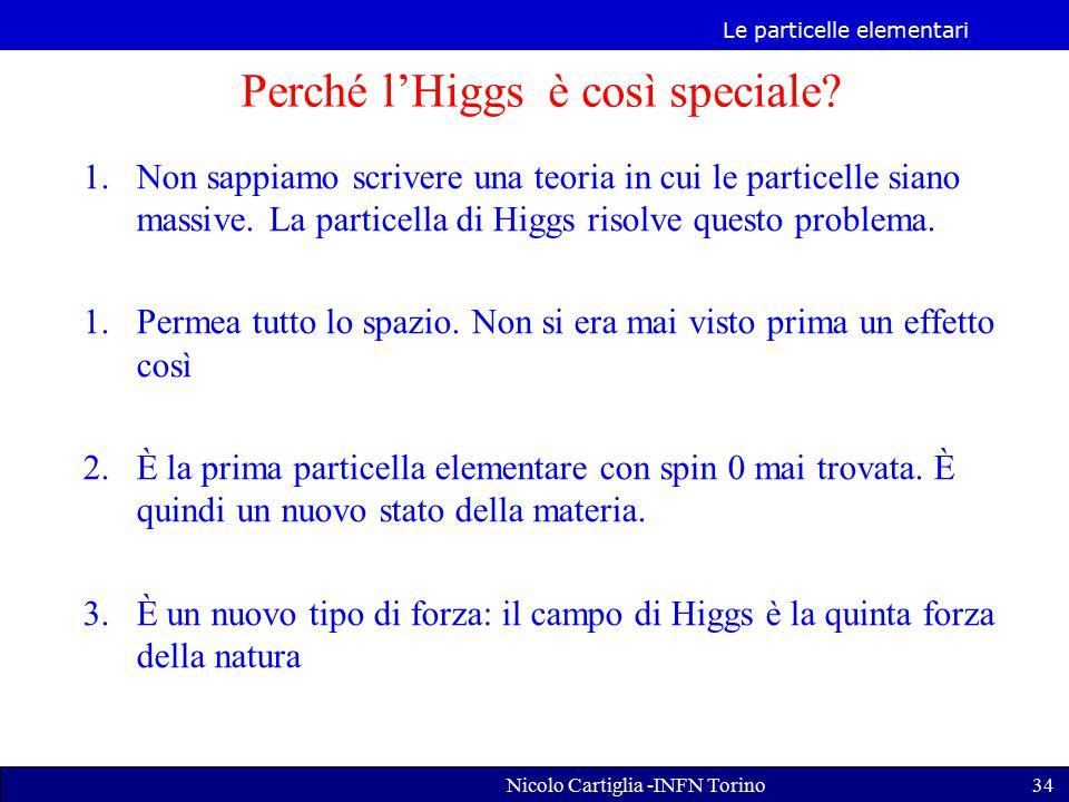 Perché l'Higgs è così speciale