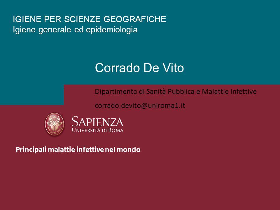 IGIENE PER SCIENZE GEOGRAFICHE Igiene generale ed epidemiologia