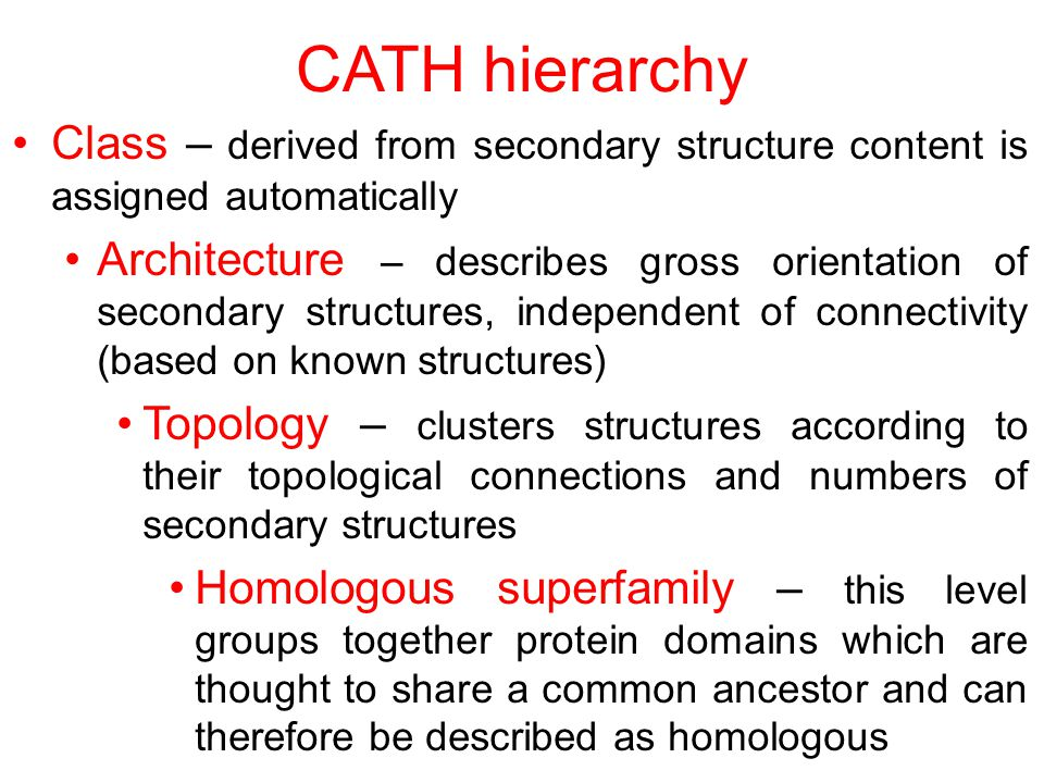 CATH hierarchy Class – derived from secondary structure content is assigned automatically.