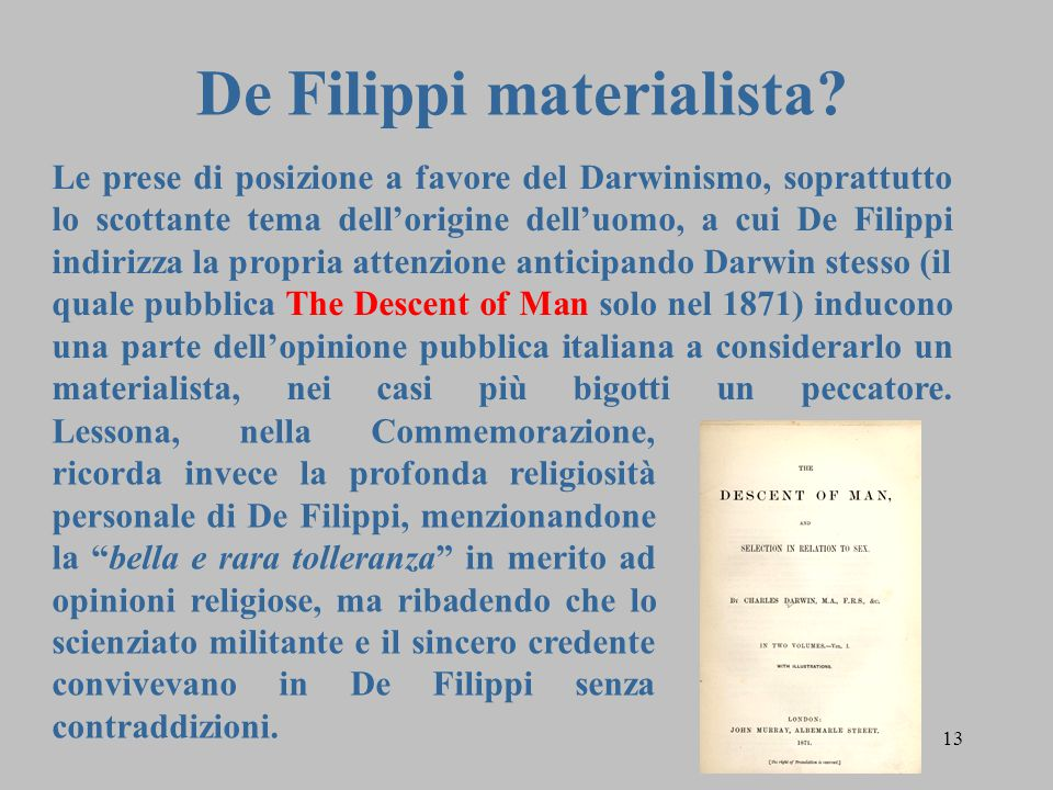De Filippi materialista