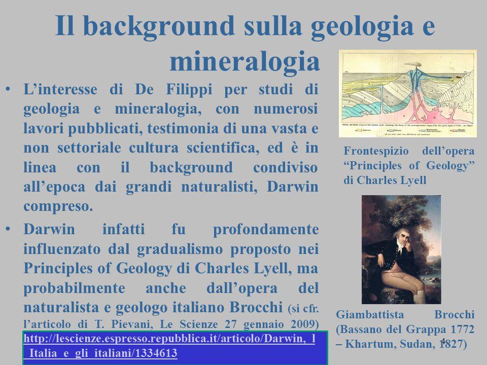 Il background sulla geologia e mineralogia