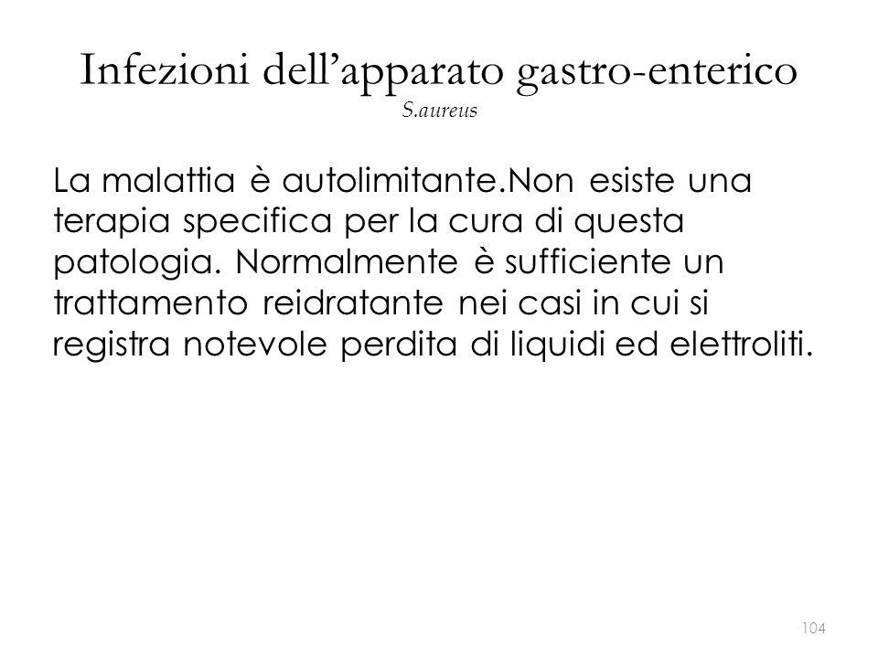 Infezioni dell'apparato gastro-enterico S.aureus