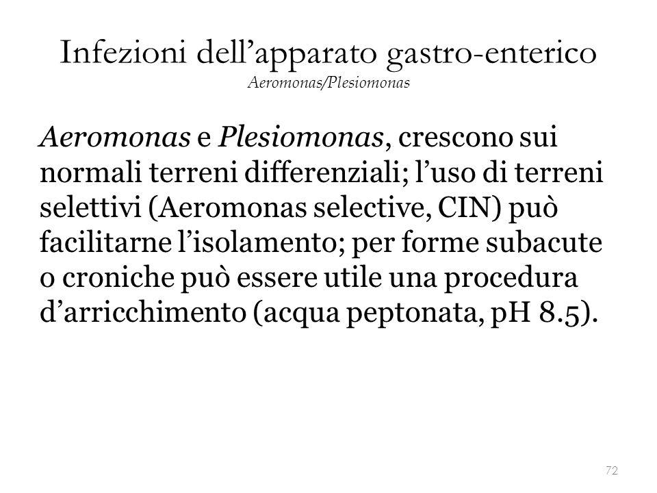 Infezioni dell'apparato gastro-enterico Aeromonas/Plesiomonas