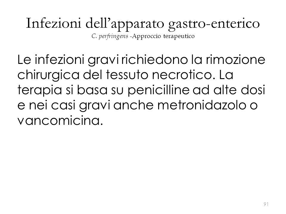 Infezioni dell'apparato gastro-enterico C