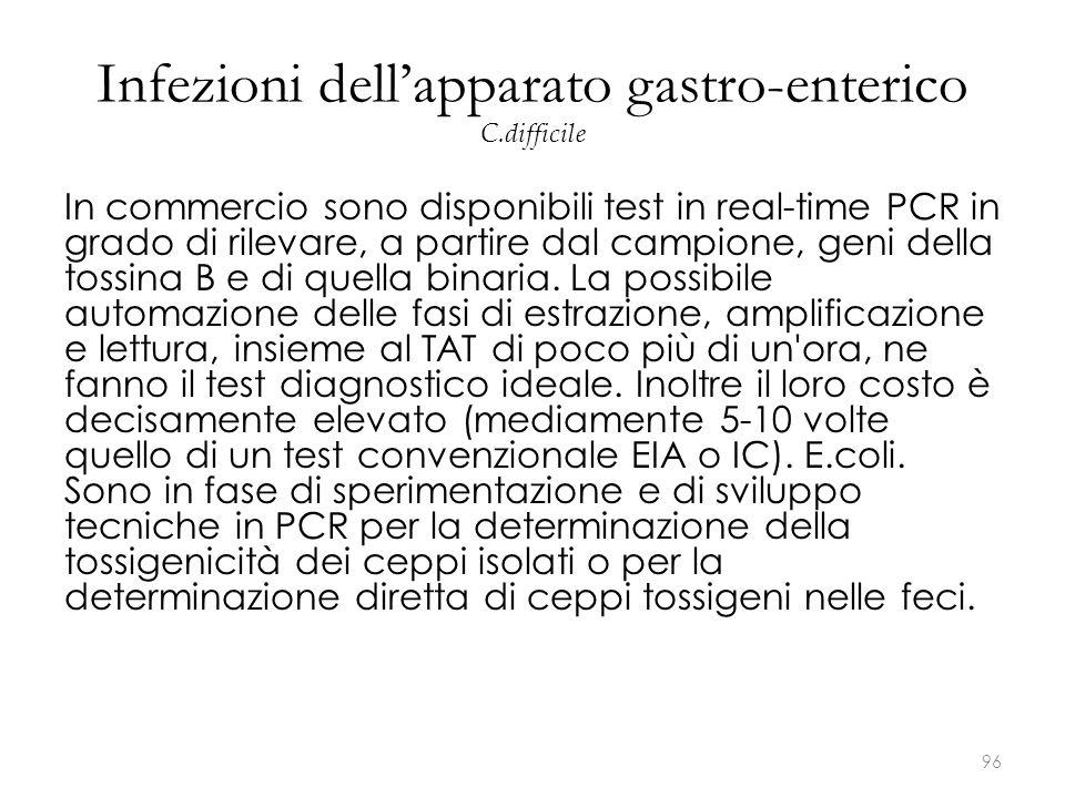 Infezioni dell'apparato gastro-enterico C.difficile
