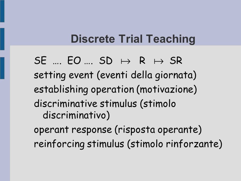 Discrete Trial Teaching