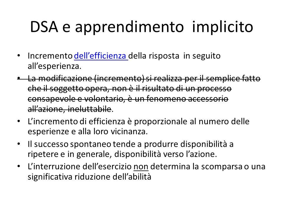 DSA e apprendimento implicito
