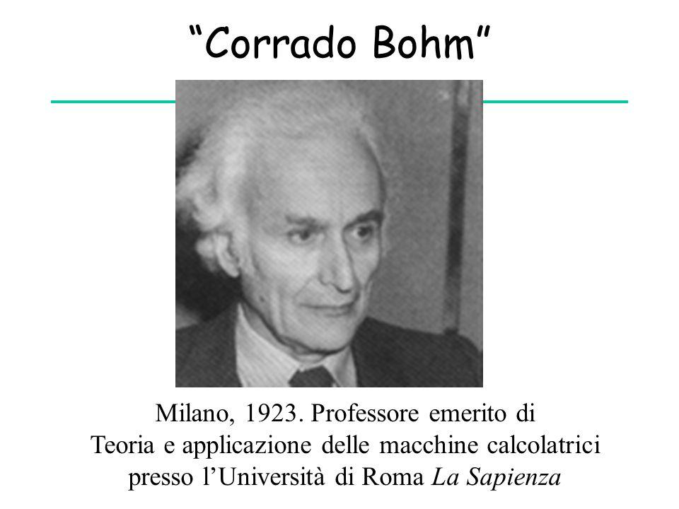 Corrado Bohm Milano, 1923. Professore emerito di