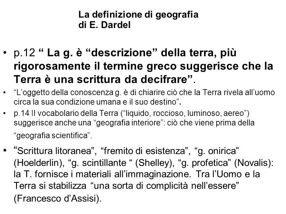 La definizione di geografia di E. Dardel