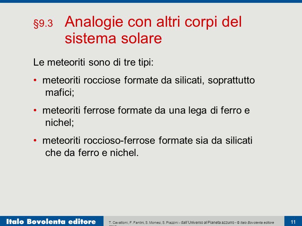 §9.3 Analogie con altri corpi del sistema solare