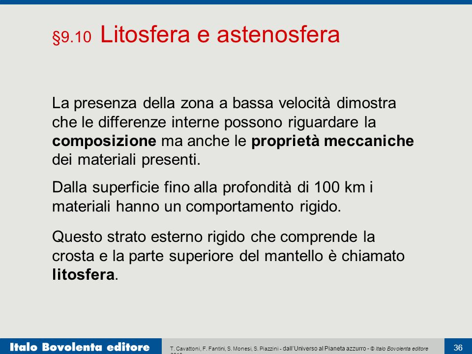 §9.10 Litosfera e astenosfera