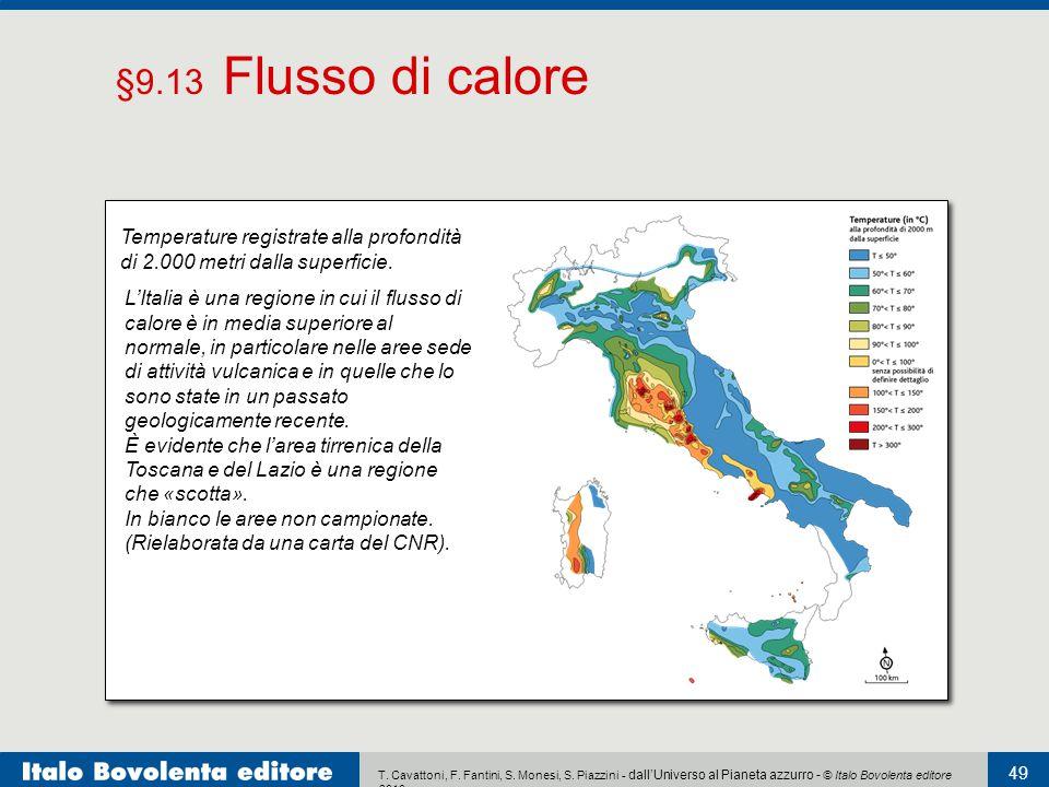 §9.13 Flusso di calore Temperature registrate alla profondità di 2.000 metri dalla superficie.